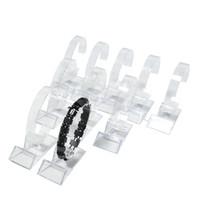 pulseira de relógio de acrílico venda por atacado-Atacado 15 Pcs Acrílico Bracelete Display Rack de Rotação Clara Assista Bangle Cadeia Organizador de Exibição De Armazenamento Titular Colar Stand Frete Grátis
