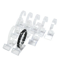 Wholesale acrylic bangle stand - Wholesale 15Pcs Acrylic Bracelet Display Rack Clear Rotating Watch Bangle Chain Organizer Storage Display Collar Holder Stand Free Shipping