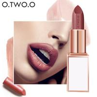 Wholesale make lipstick waterproof online - O TWO O Semi velet Lipstick Color Moisturizing Long Lasting Waterproof for Comfortable lipstick Make Up Cosmetics