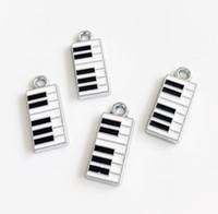 ingrosso accessori per pianoforte-10pcs Smalto Piano Hang Ciondolo Charms Fit Accessori FAI DA TE Strisce di Telefono Cinturino Cinturino Tag Collare Portachiavi