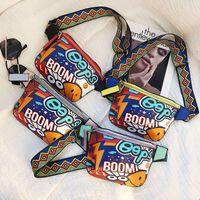 Wholesale interior art - Fashion Hip-Hop Graffiti Art Women Cross Body Bag Fanny Pack Personality Colorful Shoulder Belt Waist Bags NNA264