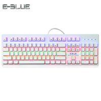 Wholesale dota keyboard - K757 Mechanical Keyboard Blue  Black Switches 104 Keys Gaming Keyboard with Colorful LED Backlight for Dota LoL