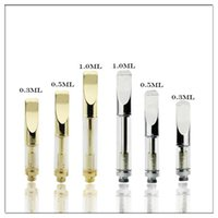 Wholesale used wax - 92a3 With Ceramic Coils Thick Oil Wax Cartridge Tank Clearomizer Atomizer Vaporizer Use Bud O Pen Battery Free DHL