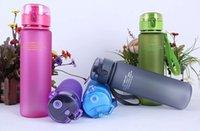 bouteille d'eau étanche achat en gros de-Givré En Plein Air Bouteilles 400ml 560ml Sans BPA preuve de Fuite Bouteille D'eau Sports Haute Qualité Tour Randonnée Drinkware Portable