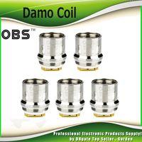 Wholesale Atomizer M6 - Original OBS Damo Coil Head M2 0.4ohm Single M6 0.2ohm Triple Replacement Coils for Damo Tank Atomizer 100% Authentic