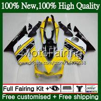 sarı renkli f4 toptan satış-HONDA CBR600F4 CBR600 F4 99 00 Için vücut FS 44MF16 CBR 600F4 99 CBR600 FS CBR600FS CBR 600 F4 1999 2000 Fairing Kaporta kiti Sarı beyaz