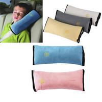 ceinture de voyage pour bébé achat en gros de-Bébé voiture auto sécurité ceinture harnais harnais housse d'épaule enfants couvertures de protection voiture coussin soutien voyage oreiller