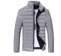 Wholesale Slim Thin Down Jacket - Mens Spring Autumn Down Jackets Thin Slim Fit Coats Cotton-padded Solid Color Long Sleeved Jacket Outerwear