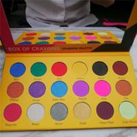 caja de purpurina sombra de ojos al por mayor-CAJA DE CRAYONS Eyeshadow iShadow Palette 18 Color Shimmer Matte Eyeshadow Palette Maquillaje Sombra de ojos