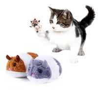 pequeños juguetes blandos al por mayor-Plush Pet Cat Toy Vibration Little Fat Mouse Persiguiendo Diversión Squeaky Figuras de Acción Muñeca Soft Stuffed Animal Toys de dibujos animados niños regalo de juguete FFA1078