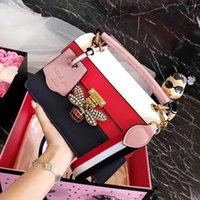 ingrosso borsa di api-Borse di lusso rosa sugao designer di lusso borse in vera pelle 2018 famoso designer borse donna borse a tracolla ape diamante borsa crossbody