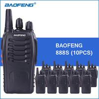 transceptor 3km al por mayor-10 unids / lote Baofeng 888S portátil Walkie Talkie UHF 5W 1800mAh BF-888S Radio de dos vías Comunitor Radio de mano Radio-transmisor-receptor
