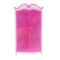 Wholesale toys for bedroom online - Rosy Closet Wardrobe Princess Bedroom Furniture For cm Dollhouse Decor