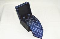 krawatten marken großhandel-Marke Männer Klassische Krawatten 100% Seide Jacquard Woven Handmade Männer Krawatte Krawatte für Männer Hochzeit Casual und Business Krawatten
