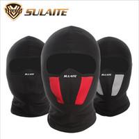 kask koruyucuları toptan satış-Nefes Likra Motosiklet Yüz Maskesi Moto Kask Bandana Hood Kayak Boyun Tam Yüz Maskesi Rüzgar Geçirmez Toz Geçirmez Kalkan