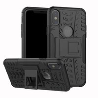 Wholesale heavy duty case for s5 online - FOR iPhone X Samsung Galaxy A3 S8 J7 PRIME Hybrid KickStand Impact Rugged Heavy Duty TPU PC Shock Proof case Cover S5