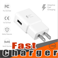 Wholesale Home Charger Adapter - For Samsung S8 S7 QC2.0 fast charge Wall Charger Adapter 5V 2A Home Plug For Samsung Galaxy S6 True Full 2A Without LOGO US EU Plug
