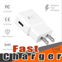 Wholesale chargers without plug resale online - For Samsung S8 S7 QC2 fast charge Wall Charger Adapter V A Home Plug For Samsung Galaxy S6 True Full A Without LOGO US EU Plug