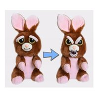 Wholesale change movie - Feisty Pets Plush toys 22cm One Second Change Face Vicky Vicious Plush Adorable Cute Plush Stuffed Bunny that Turns Feisty with a Squeeze