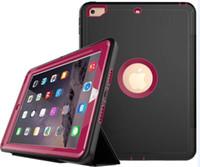 ipad mini akıllı kapak sırt çantası toptan satış-Robot Zırh Ağır Vaka Manyetik Akıllı Kapak + Case Arka iPad Için yeni 2018 2 3 4 6 ipad pro 9.7 iPad Mini Retina Katlanır Oto Uyku Wake