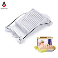 Wholesale egg slicer cutter resale online - Wulekue Abs Stainless Steel Luncheon Meat Cheese Slicer For Egg Spam Cutter Kitchen Cooking Tools