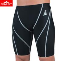 Wholesale Mens Size 3xl Underwear - Sbart Men Professional Swimming Briefs Sharkskin Underwear Trunks Swimwear Plus Size 4xl Bathing Suit Mens Swimsuit Beachwear L