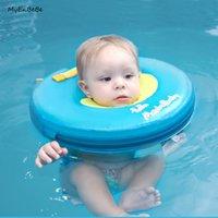 ingrosso bambino 12months-Più sicuro bambino collo galleggiante non gonfiabile del collo del bambino anello di nuotata cerchio neonato swim trainer accessori piscina per 0-12 mesi