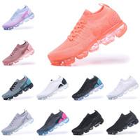 negro deportes zapatos para caminar mujeres al por mayor-With box Nike air max 2018 airmax Vapormax Nuevos colores 2.0 running Negro Blanco Sport Shock trainers Footing Senderismo Deportes Deportivos Zapatillas de deporte