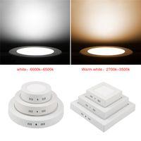 yüzey paneli led ışıklar toptan satış-6W 12W 18W 25w 30w Yuvarlak / Kare Led Kısılabilir Sıva Üstü Panel Işık Led Aşağı ışık Led tavan downlight AC85-265V