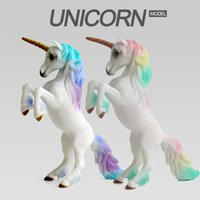 Wholesale made toys china online - Model Animal Toys PVC Unicorn Action Figure Colors Made In China Kid Plastic Animal Toys