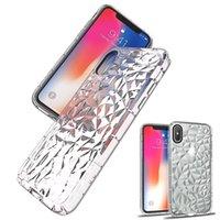 iphone için fre toptan satış-IPhone X Xs için Max XR Temizle Elmas Kılıf Ağır Darbeye Koruyucu Kapak Cilt iPhone 6 7 8 Artı DHL Fre