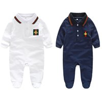 Wholesale wool clothes for babies resale online - classic baby romper fashion gentleman style bodysuit for Month babies newborn infant jumpsuit outerwear clothing