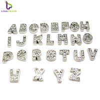 Wholesale Love Floating Charm - 7MM 130pcs Sparkling Crystal A-Z Alphabet Letter Floating Charm Initial Locket Charms Pendants For Floating Locket DIY Charms LSFC113*130
