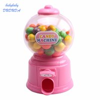 Wholesale gumballs machine - Creative Cute Sweets Mini Candy Machine Toys Bubble Gumball Dispenser Coin Bank Kids Toy Chrismas Birthday Gift