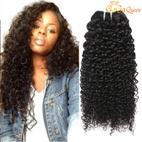 Wholesale Kinky Extensions - 8A Brazilian Kinky Curly Hair Bundles Mink Brazilian Afro Kinky Curly Human Hair Extensions Brazilian Curly Virgin Hair WEAVES