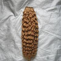 Wholesale honey brown hair weave resale online - Brazilian Virgin Hair Honey Blonde quot quot Brazilian Water Wave g Human Hair Bundles Double Weft Remy Hair Weave Bundles