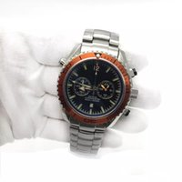 Wholesale master chronograph - New Luxury Mens Watch om Master Quartz Movement Chronograph Stainless Steel Men male Wrist watch