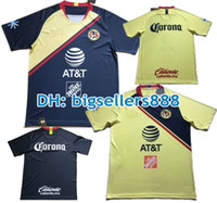 Wholesale america mexico - Top Thai quality 18 19 green America jersey soccer home yellow 2018 2019 away Mexico club third Football Shirt P.AGUILAR O.PERALTA MATHEUS
