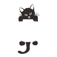 sevimli güzel siyah kedi toptan satış-DIY Sevimli Kitty Kedi Anahtarı Çıkartmalar Komik Siyah Kediler Duvar Sticker Güzel Taze Ev Dekor Çıkartmalar Oturma Odası Yatak Odası ...