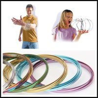 Wholesale Chinese New Year Toys - New Arrival 5 Inches 7 Colors Toroflux Flow Rings Stainless Steel Kinetic Spring Bracelet Interactive Kids Toys