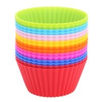 Wholesale Silicone Cupcake Liners Mold Muffin Cases Round Shape Cup Cake Tools Bakeware Baking Pastry Tools Cake Mold