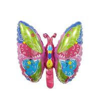 ingrosso felice farfalla-Mini Butterfly Foil Balloons Pink Helium Balloon Happy Birthday Party Decorazione di nozze Palline per bambini Regalo per bambini