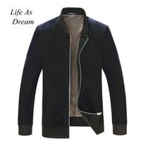männer übergroße kleidung großhandel-Neue Casual Jacken Herbst Wintermantel Männer Sportswear Motorrad Herren Cord Übergroße Bomber Jacken für Männer Marke Kleidung