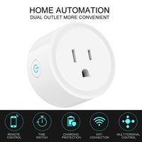 ferngesteuerte zeitschaltuhr großhandel-Wifi Smart Plug Socket Switch Runde US-Stecker Fernbedienung Steckdose Timing-Schalter für Smartphone Android IOS Home Automation