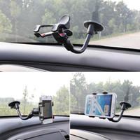 сосать мобильный оптовых-Универсальный автомобильный телефон держатель окна лобового стекла сосать держатель липкий 360 регулируемый держатель мобильного телефона для iPhone Samsung HTC