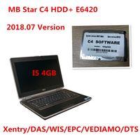 logiciel de diagnostic mb star achat en gros de-Version professionnelle 2018.07 du logiciel MB Star C4 HDD Win7 320G Xentry / DAS pour le diagnostic b-e-nz avec LAPTOP E6420