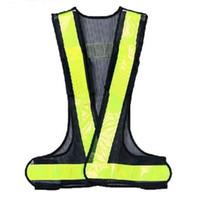 chalecos de seguridad negros al por mayor-LBFS Hot Hi-Viz chaleco reflectante alta visibilidad advertencia Traffic Construction Safety Gear negro amarillo