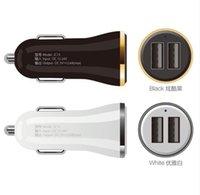 salidas de tabletas al por mayor-2 Cargador de coche de salida USB 2.4A máximo (Real) Carga rápida para Iphone 6s 6 más SE para teléfonos móviles Samsung S6 S5 S4 tabletas CALIENTE