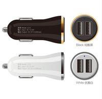 tablet çıktıları toptan satış-2 USB Çıkışı Araç Şarj 2.4A max (Gerçek) Hızlı Şarj Iphone 6 s 6 artı SE Samsung S6 S5 S4 cep telefonları için tabletler SıCAK
