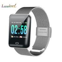 fitnessmodellierung großhandel-B8 Männer Smart Uhr Android Smartwatch Pulsuhr mehrere Sport Modell Fitness Tracker Frauen intelligente Elektronik für iOS